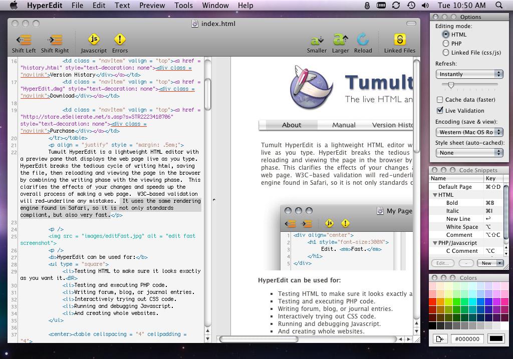 Tumult HyperEdit WYSIWYG HTML Editor - DTG News Bytes