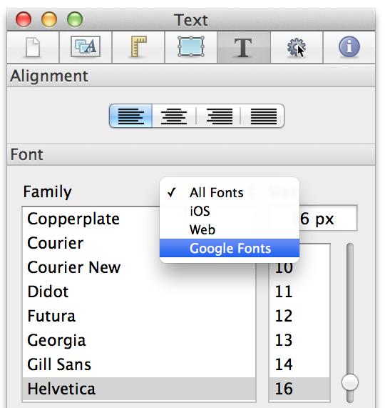 Tumult Hype Documentation — Fonts